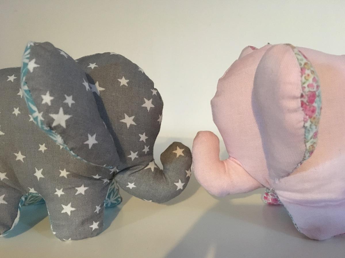 Un doudou éléphant cousu main ! #23
